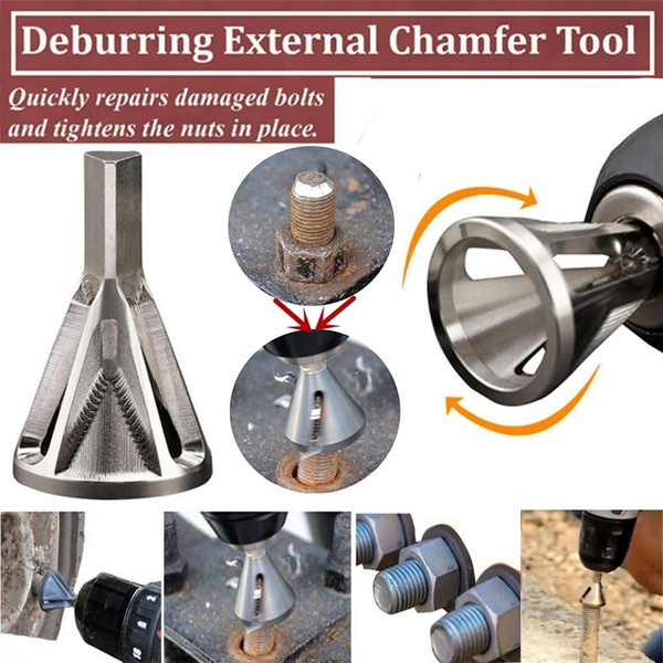 Drill Bit Set Drill Set, 1 Pc Stainless Steel Deburring External Chamfer Tool Remove Burr Tools for Drill Bit