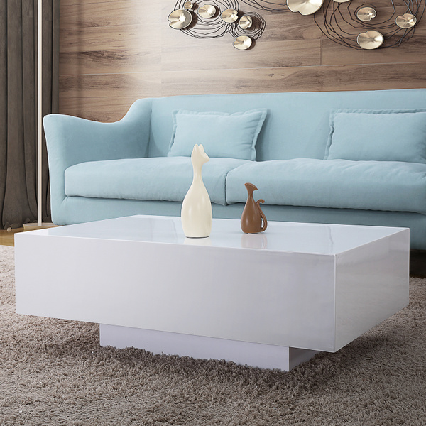 High Gloss White Coffee Table Living Room Furniture