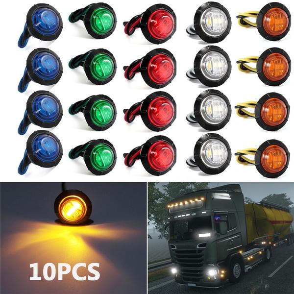 4x Led Side Marker Lights Position Lighting Lamp Indicator Car Trailer Truck 12V