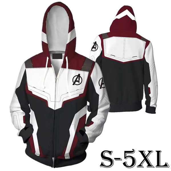 de1ab42542c New Avengers 4 Endgame Quantum Realm Sweatshirt Jacket Advanced Tech  Superhero Iron Man Hoodies Suit
