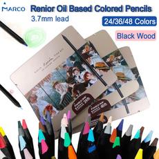Box, pencil, marco, art