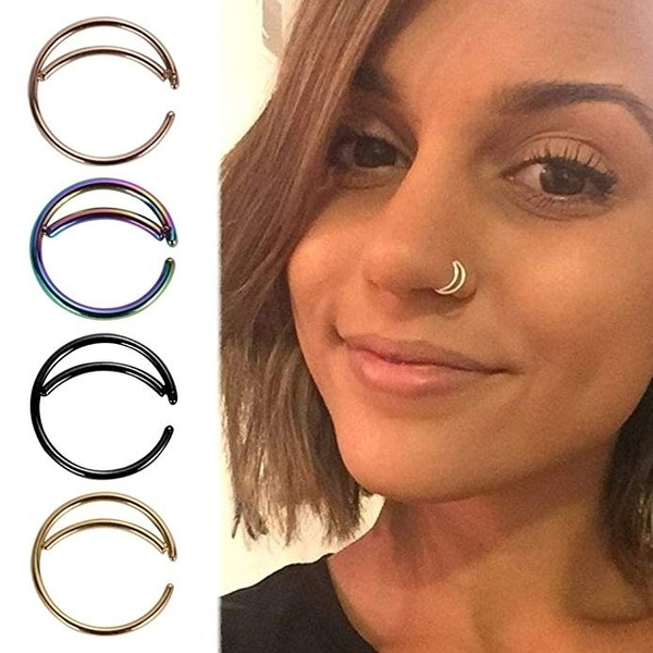 1pcs Fashion Hot Sells Moon Shape Nose Rings Indian Nose Ring Thin