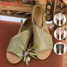 Summer, Plus Size, Flats shoes, Womens Shoes