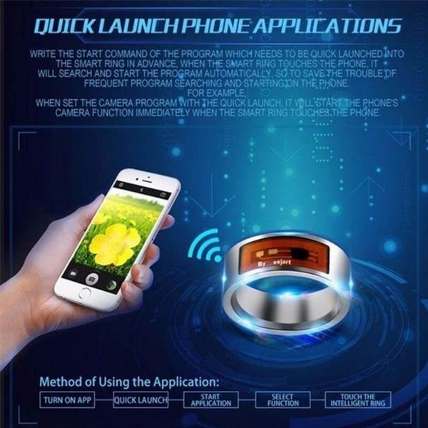digital finger NFC ring watch Smart Rings Waterproof Digital Ring Smart  Accessory Control Intelligent Finger NFC Smarts Ring