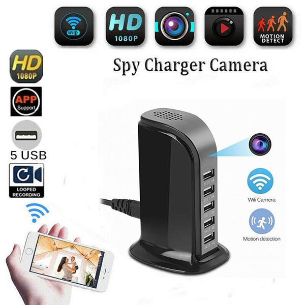 1080P WIFI Hidden Camera 5 USB Port Spy Fast Charger Camera Cam Video Recorder