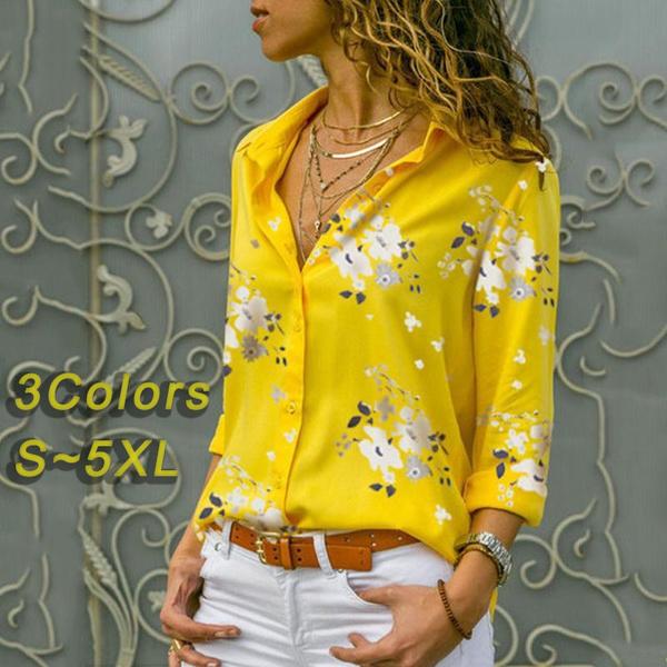 blouse, Deep V-Neck, Plus Size, Sleeve