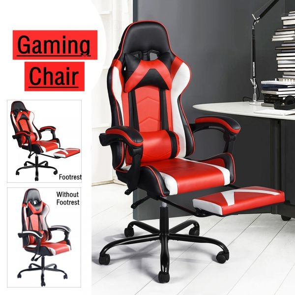Awesome Vantana Footrest Without Footrest Gaming Chair Racing High Back Office Chair W Lumbar Support And Headrest Bralicious Painted Fabric Chair Ideas Braliciousco