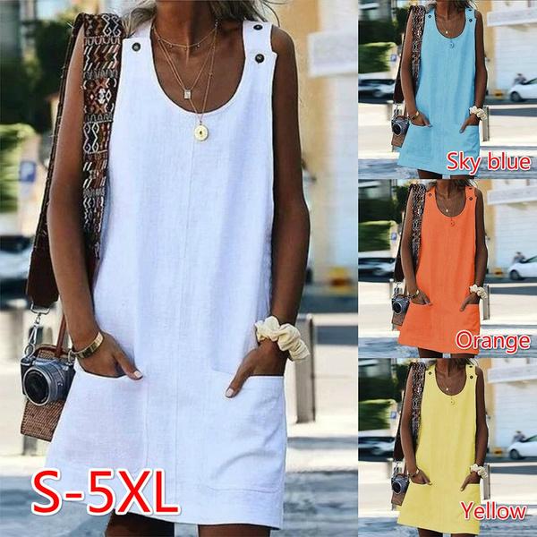 Summer, summer dress, vest dress, Sleeveless dress