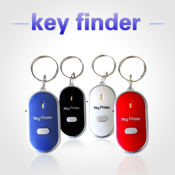 Whistle Lost KEY FINDER Sonic Beep Key Ring Remote Chain LED Torch FREE SHIPPING