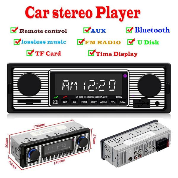 SWM 5513 LCD Car Stereo MP3 Player FM Radio Bluetooth 4.0 USB TF card AUX Input