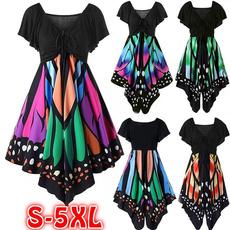 Mini, short sleeve dress, Lace, cute
