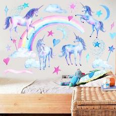 Heart, Wall Art, Home Decor, rainbowunicorn