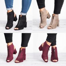 Fashion, frontzippersandal, Women Sandals, ankle shoes.