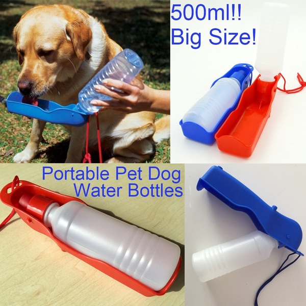 500ml 1PCS Foldable Pet Dog Drinking Water Bottles Protable Travel Hand  Held Puppy Dogs Squeeze Water Bottle Dispenser