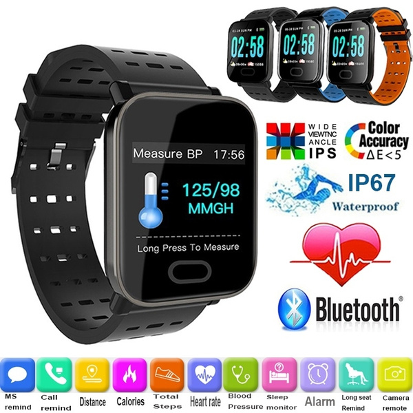 Smart Bracelet TFT Full Color Screen Fitness Tracker Step Counter Activity  Monitor Smart Watch for samsung s10 s9 iphone x/xr 7,8 smartphones Ip67