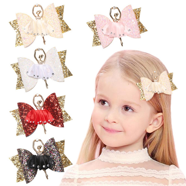 Rhinestone Glitter Bow  Bowknot Hairpin  Sequins Hair Clips Girl Headwear