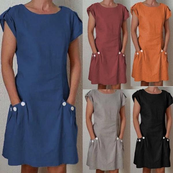 Summer, short sleeve dress, Dress, summer dress