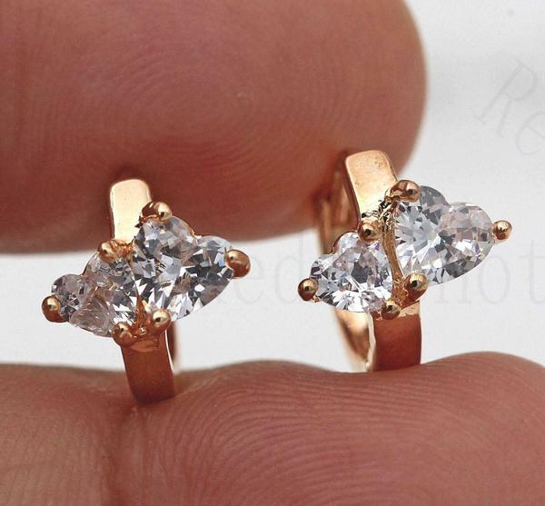 yellow gold, cute, 18k gold, Gemstone Earrings