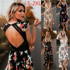 Summer, womens dresses, Floral print, Vintage Dresses