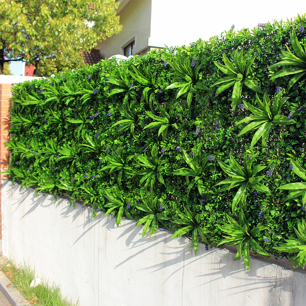 1PC Outdoor Artificial Plant Walls Leaves Fence 1x1m UV Proof DIY Vertical  Garden Wall IVY Panels Garden Backyards Decorations
