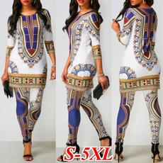 africanprint, Plus Size, Casual pants, pants