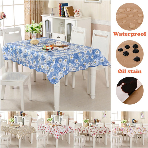 Large Round Table Cloth.Round Tablecloth Environmental Waterproof Pvc Tablecloth Protection Plastic Large Round Table Cloth