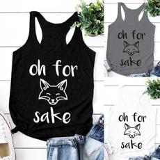 sleeveless, Fashion, Tank, letter print