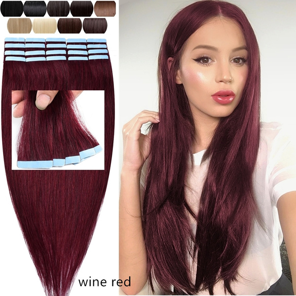 50g 20pcs Tape In Hair Extensions Ombre Dark Brown To Light Brown And Ash Blonde Remy Human Hair Extensions Tape In Natural Hair 18inch Straight