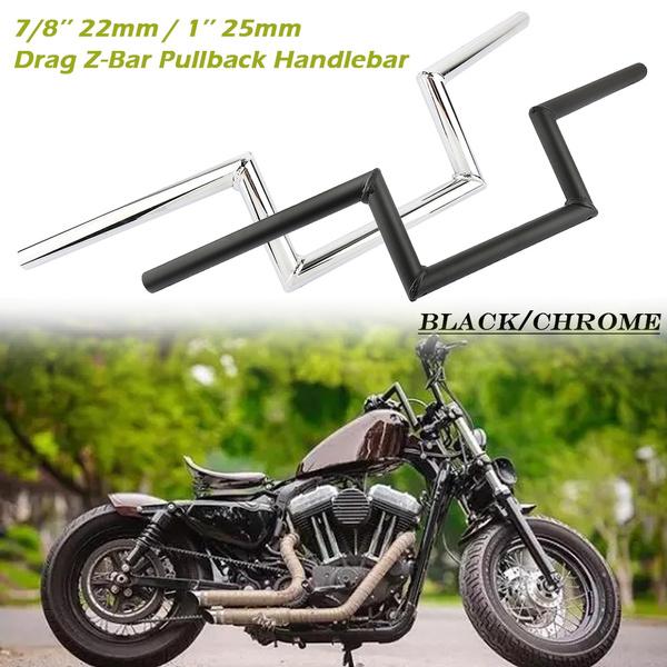 "Motorcycle Drag Z-Bar Handlebar 1/"" 25mm For Honda Yamaha Harley Chopper Bobber"