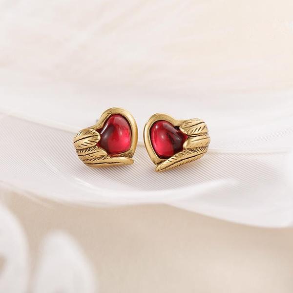 Heart, Jewelry, gold, earringsforgirl