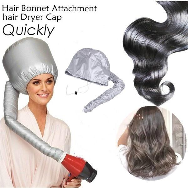 Soft Hair Drying Cap Bonnet Hood Hat Womens Blow Dryer Home Hairdressing Tool Grey