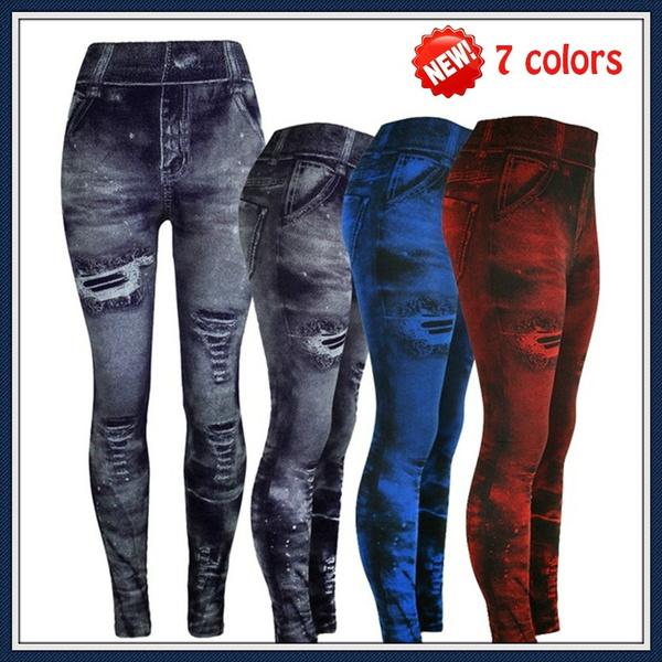 Leggings, Fashion, Women Leggings, Denim