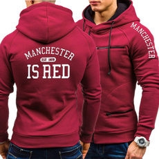 Casual Hoodie, United Kingdom, manchesterhoodie, manchesterisred