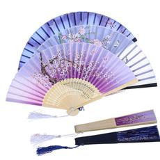 dancefan, Summer, bamboofan, Flowers