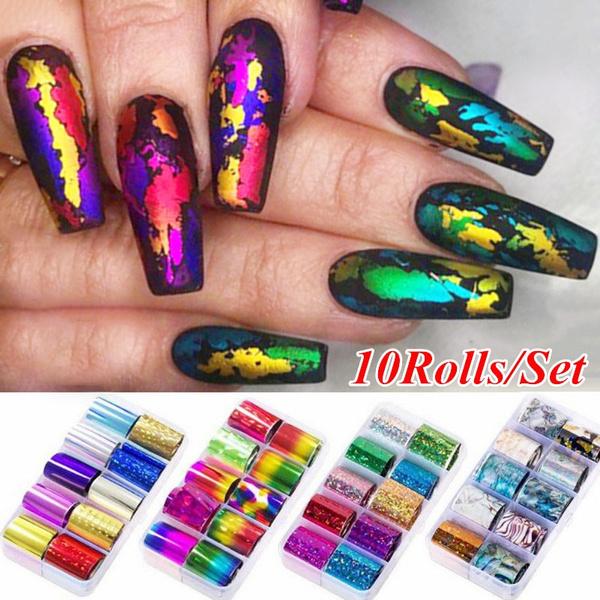 nail stickers, Laser, Beauty, art