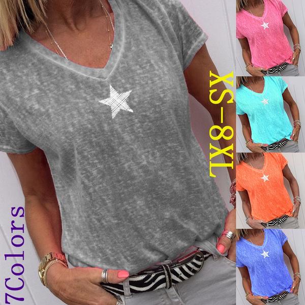 summertopsforwomen, blouse, Plus Size, Tops & Blouses
