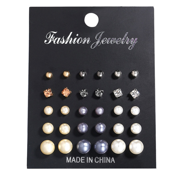 earringforwomen, studearringsetforwomen, Jewelry, pearls