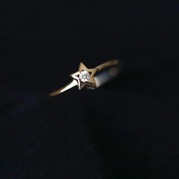 Copper, DIAMOND, Star, zirconring