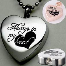 Steel, Heart, keepsakenecklace, Jewelry
