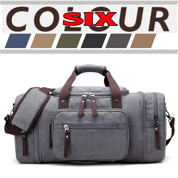 76b8ebced SUVOM Men Military Army Style Overnight Trip Leather Weekend Duffle Bag  Canvas Travel Tote Luggage Bag Large Capacity Cow Shoulder Bag | Wish