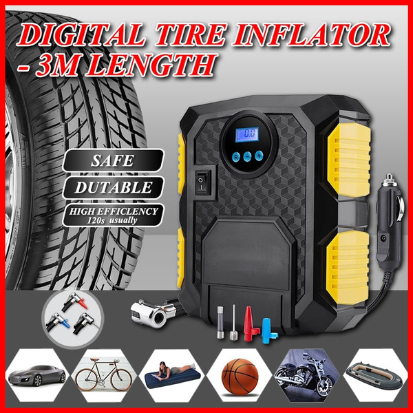 Digital Tire Inflator DC 12 Volt Car Portable Air Compressor Pump Air Compressor