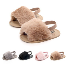 plushshoe, casual shoes, babysandal, fur