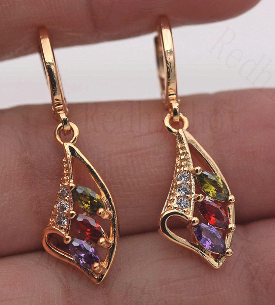 18k gold, Jewelry, gold, Earring