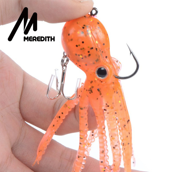 Saltwater Octopus Bait hook Fishing Tackle Squid Skirt Lure Soft Silicone