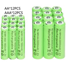 aabatterie, aaarechargeablebatterie, liionbattery, 12vaaabatterie