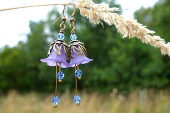 piercedearring, gothicearring, handmadehandcrafted, Floral