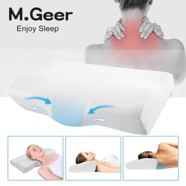 Memory Foam Pillow Cervical Contour Pillow For Neck Pain Bed
