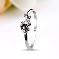 Antique, Sterling, Engagement Ring, rosering