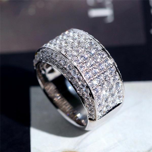 18k White Gold 0 62ct Diamond Rings