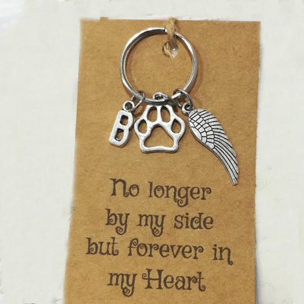 with card )Initial Keyring,Pet Loss